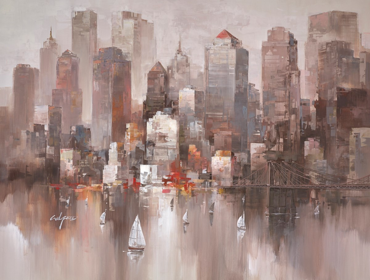 City Shadows V by wilfred -  sized 45x34 inches. Available from Whitewall Galleries
